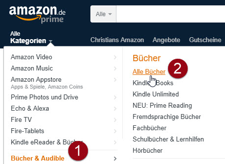 E-Books auf Amazon