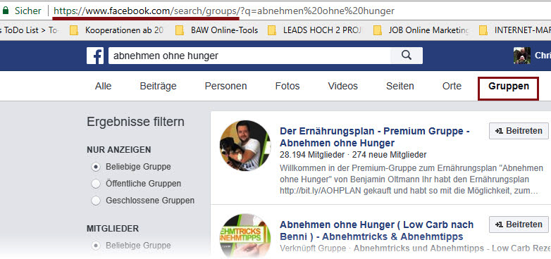 E-Book Kooperationspartner in Facebook Gruppen