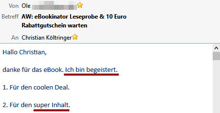 E-Bookinator Feedback Ole