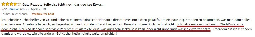 E-Book-Feedback über Amazon-Kundenrezension