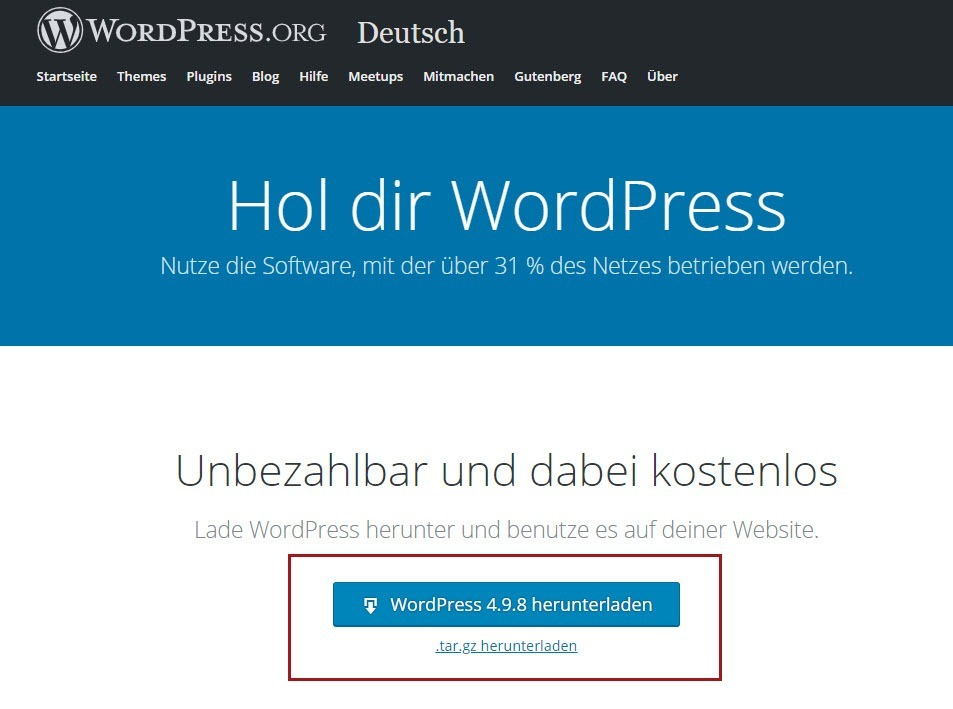 WordPress E-Book-Verkaufsseite downloaden
