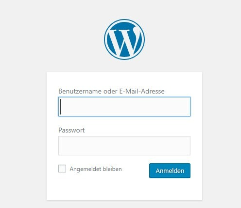 WordPress Login E-Book-Verkaufsseite