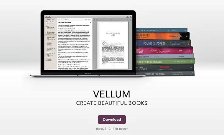 Buchdesigntool Vellum