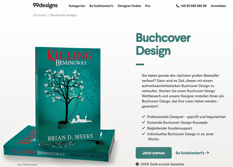 E-Book-Cover bei 99designs beauftragen