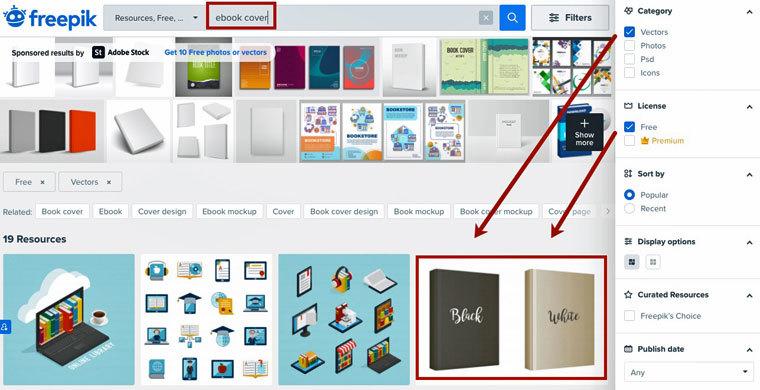 E-Book-Cover mit Freepik erstellen