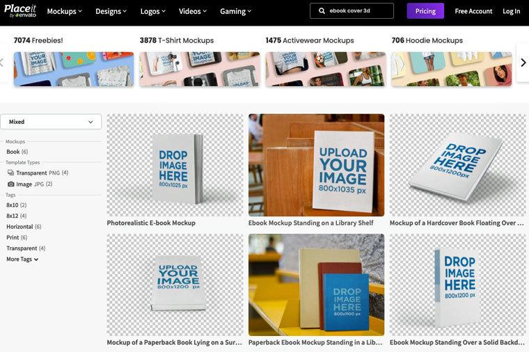 E-Book-Cover mit Placeit erstellen