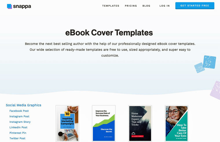 E-Book-Cover mit snappa erstellen