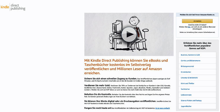 E-Book auf Amazon Kindle Direct Publishing verkaufen