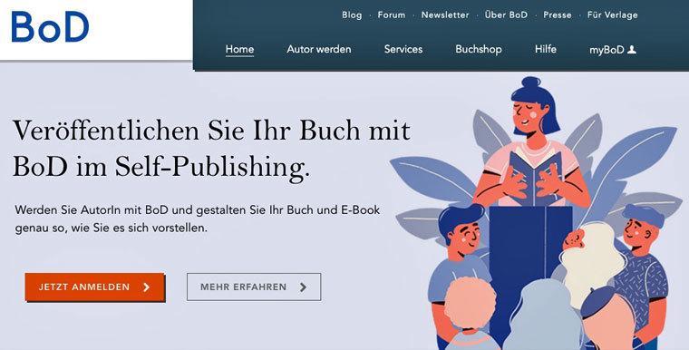 E-Book auf BoD verkaufen