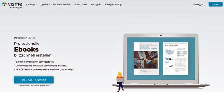 E-Book erstellen mit Visme