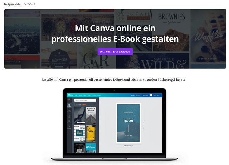 E-Book gestalten mit Canva