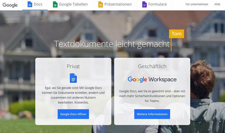 Schreibprogramm GoogleDocs