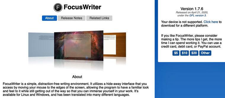 Textverarbeitungsprogramm FocusWriter