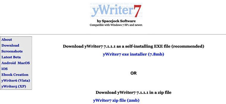 Textverarbeitungsprogramm yWriter